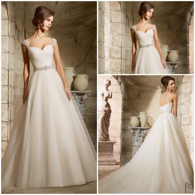 Removable Straps Elegant Belt Beaded Sexy Wedding Dress Bride Dresses 2017 New Arrival Summer Style