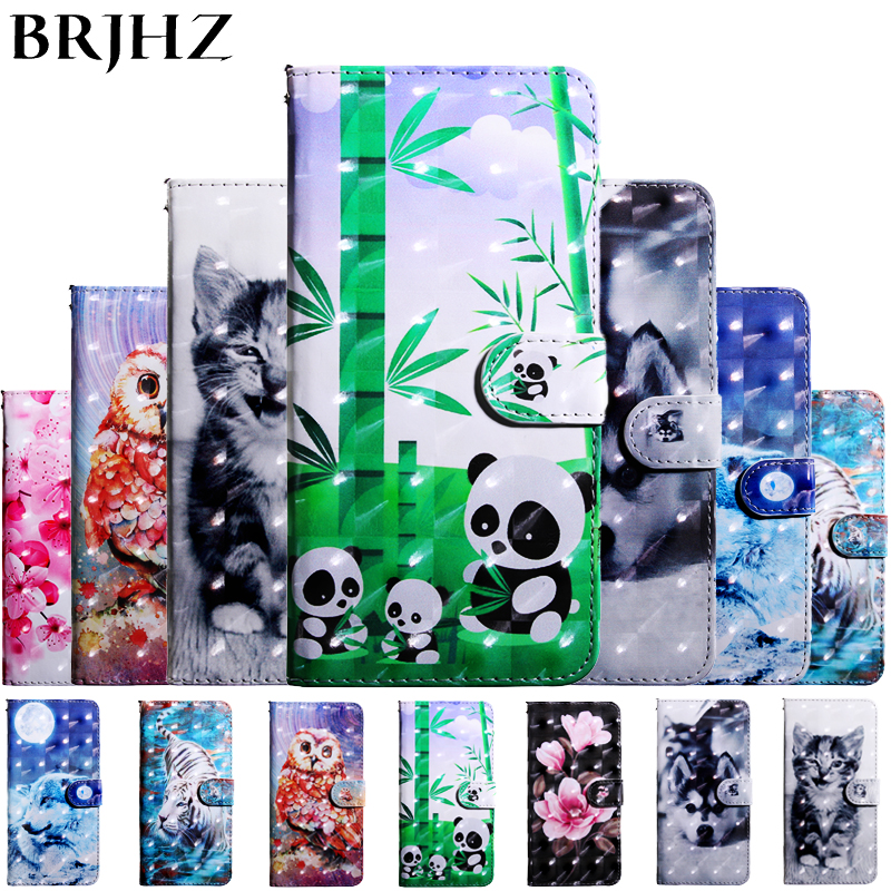 A7 2018 Case on For Coque Samsung Galaxy A7 2018 case For Fundas Samsung A7 2018 Cover 3D Painted Flip Leather Wallet Phone Case