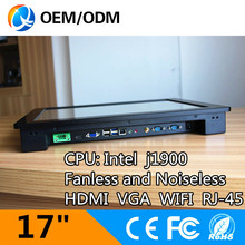 17″ Resistive touch screen Resolution 1280×1024 j1900 fanless all in one pc ultra thin embedded industrial pc