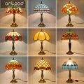 Artpad в средиземноморском стиле мозаика Настольная лампа мозаика витражный абажур E27 LED ретро спальня прикроватная лампа лампы в турецком сти...