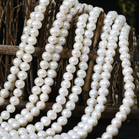 Fashion Natural White Cultured Freshwater Pearl Beads Elegant Women Fashion Hot Sale Jewelry Making 15inch B1337