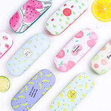 Fashion Novelty Creative Lovely Cute Summer Fruits Strawberry Pineapple Bananas Watermelon PU Glasses Box Kawaii Spectacle Case(China)