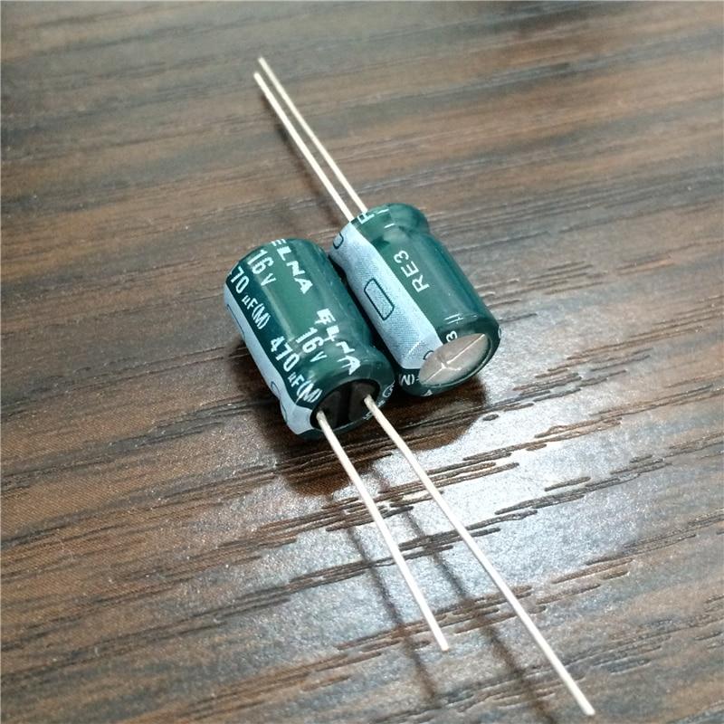 10pcs 470uF 16V Japan ELNA RE3 Series 8x11 5mm 16V470uF Audio capacitor