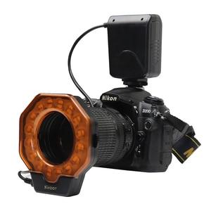 Image 3 - Flash Led Macro pour Canon MarkIII Nikon Olympus Pentax appareil photo reflex objectif de diamètre 52/55/58/62/72/77mm