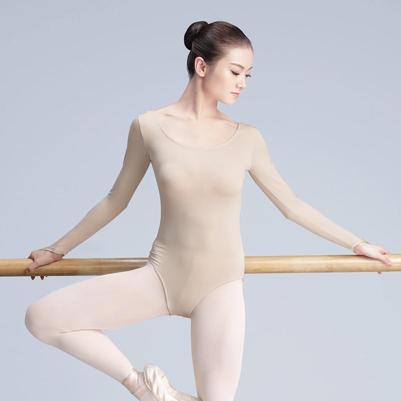 New Bodysuit Skin Nude Colored Leotard Adult Girls Women Ballet Dance Gymnastics Underwear Invisible Ballet Leotard For Women
