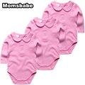 3 unids/lote 0-12Months Algodón 100% Mamelucos Del Bebé de Manga Larga Ropa de Bebé Mono Bebé Niños Niñas Ropa Roupas de Bebe