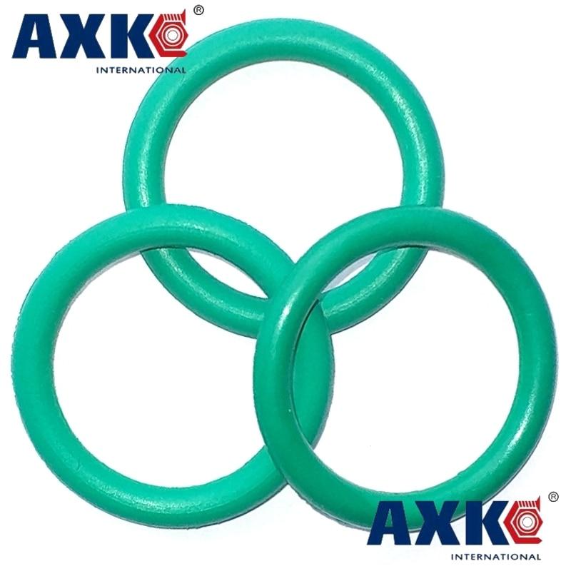 High Temp Green Fluorine Rubber O-Ring Gasket Oil Sealing Washer OD=13~100 Ø4mm