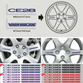 4 x Newest CE28 3M Adhesive Vinyl Wrap Racing Decals Sticker Wheel Hub Pegatinas Car Styling Motor Part Auto Rim Accessories