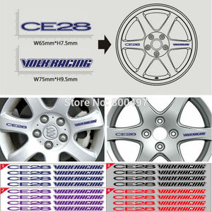 4 x Newest CE28 3M Adhesive Vinyl Wrap Racing Decals Sticker Wheel Hub Pegatinas Car Styling Motor Part Auto Rim Accessories(China)