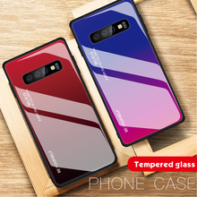 Gradient Tempered Glass Cases for Samsung Galaxy S10 S9 S8 Plus Colorful Shockproof Case M10 M20 M30 M40r