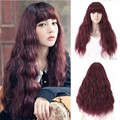Heat resistant corn perm fluffy curly wig lolita wig long brown hair wigs for womens synthetic wigs cosplay