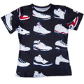 Jordan 23 Sapatos Clássicos de verão Estilo 3D Impresso Camisetas Padrão Engraçado Camisa dos homens T de Manga Curta Casuais T-shirt Tops de Hip Hop Homme