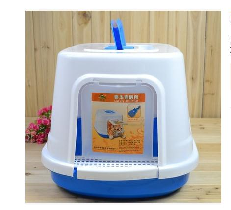 Полностью герметичен бассейна кошачьих туалетов кошка туалет статей Размеры: 48*40.5*33.9 см