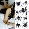 1Pcs Spider Totem Designs Temporary Tattoo Stickers Waterproof Body Paint Tattoos 3D Art Drawings