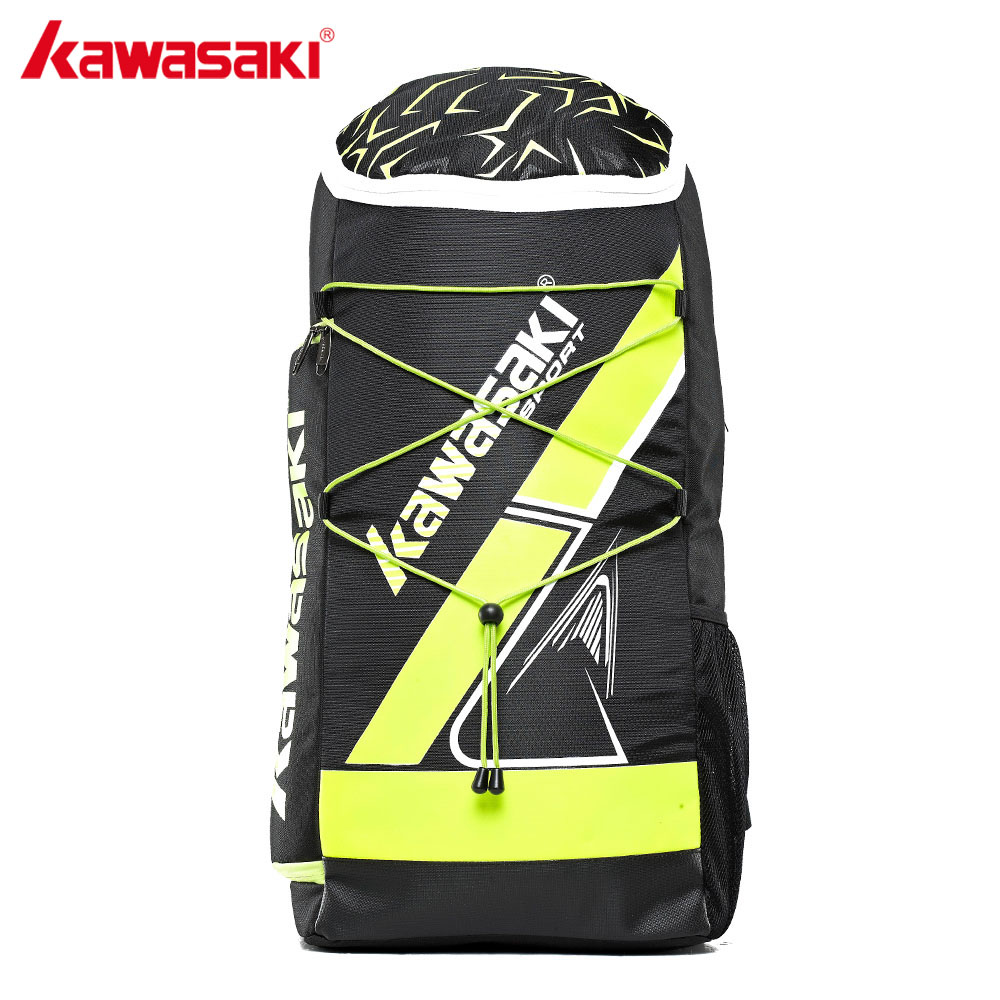 KAWASAKI 2017 Sports Backpack Larger Capacity 3Pcs Badminton Rackets Bag Tennis Racket Back Pack for Men Women KBB-8230