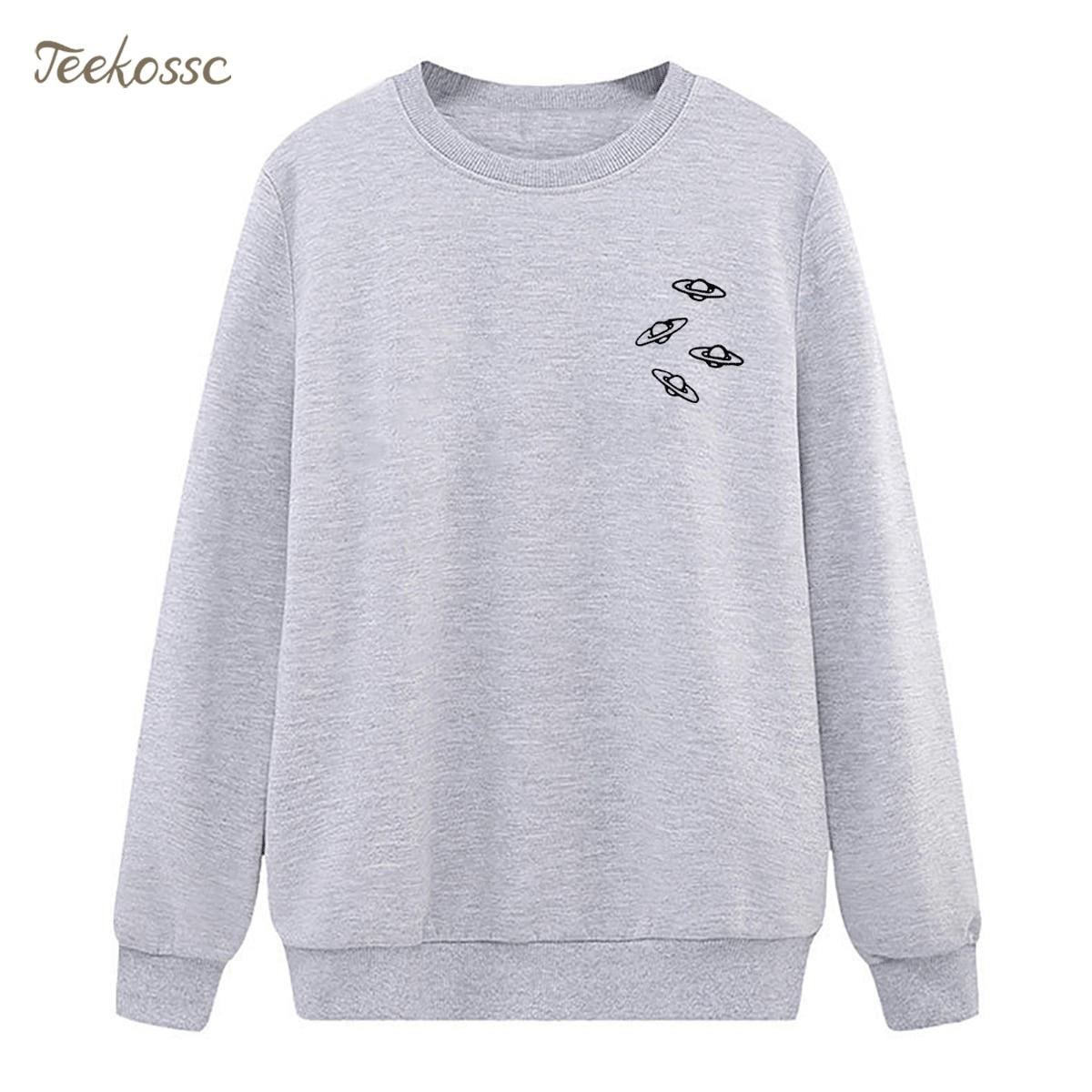 Alien UFO Sweatshirt Harajuku Hoodie 2018 New Winter Autumn Women Lasdies Pullover Fleece Warm Loose Streetwear Brand Clothing