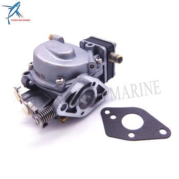 Outboard Motor Carburetor Assy and Gasket for Hangkai 2-stroke 9.8hp 12hp Boat Engine