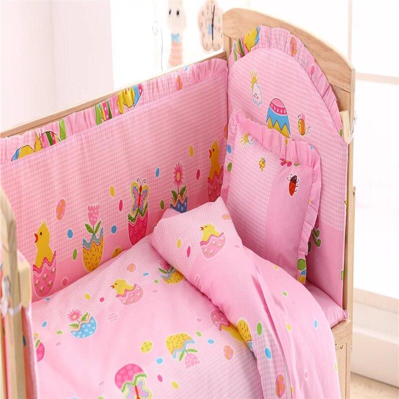 Honest Baby Bedding Set Bumper Cotton Carton Print Soft Baby Bedding Mother & Kids