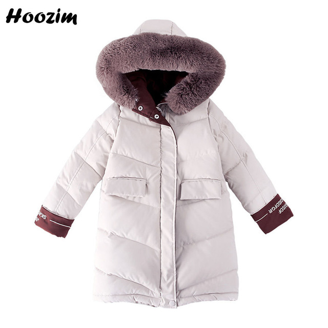 Big Promo Winter Long Jacket For Girls 10 11 12 Years Fashion Faux Fur Cap Parka Children Cool Kids Outerwear Pretty Letter Coat For Girls