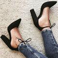 Venda Hot Sexy Black Lace Up Gladiador Das Mulheres Sandálias de Verão Vestido de Casamento Sapatos de Mulher de Salto alto 9 CM Mulheres Bombas Valentine sapato