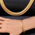Foxtail Bracelet For Men / Women Rose Gold / gold Plated Simple Design Trendy 6mm Width Bracelets Bangles H229