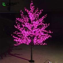 Роскошный ручной светодио дный работы искусственный Cherry невый цветок дерево ночник Рождество Новый год Свадебные украшения огни 1,8 м дерево светодио дный
