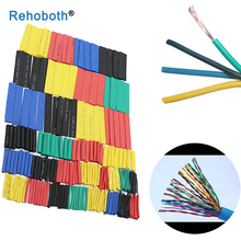 164pcs Set Polyolefin Shrinking Assorted Heat Shrink Tube Wire Cable Insulated Sleeving Tubing Set стоимость