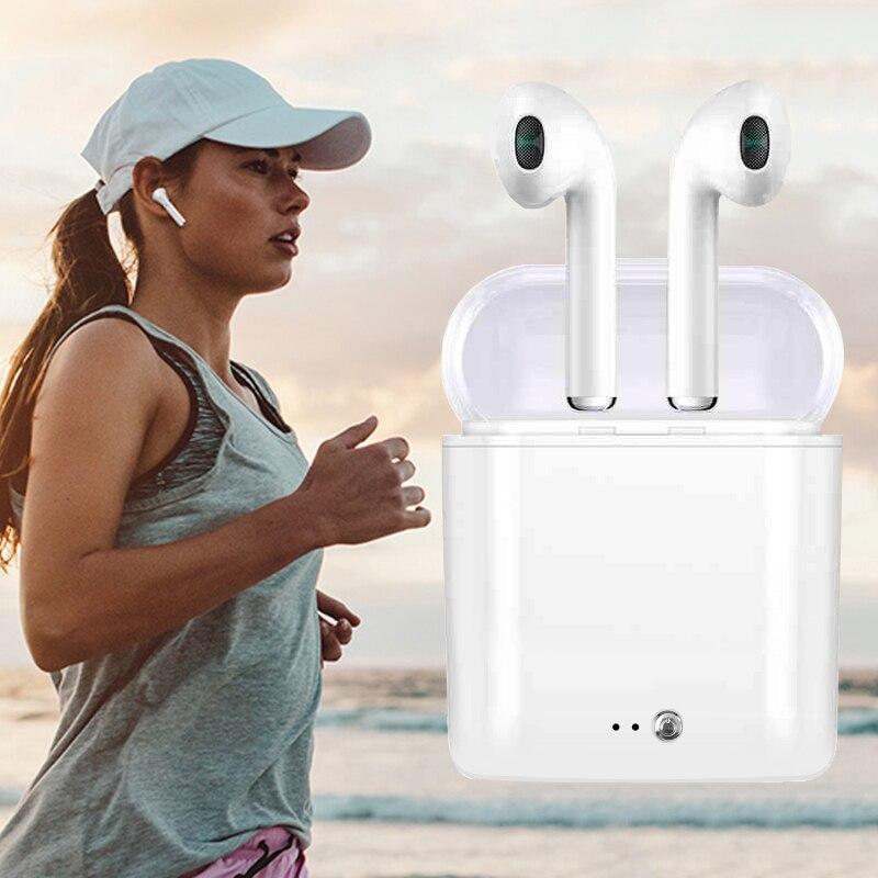 I7 S TWS V4.2 Bluetooth Kopfhörer In-ohr Qualität Air Schoten Drahtlose Kopfhörer + Lade Case Universal für Iphone 7 8 X Headset