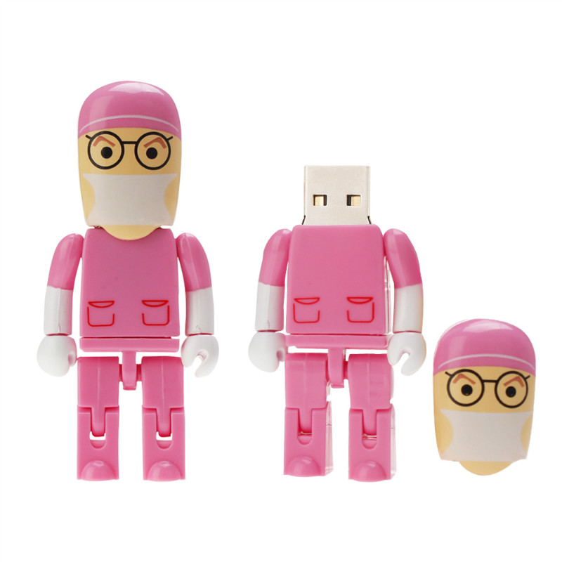 Image 3 - Crazy Hot Cartoon Anesthesiologist Doctor USB Flash Drive 32GB 64GB 128GB PenDrive 4GB 8GB 16GB Flash Memory USB 2.0 Pen Drive-in USB Flash Drives from Computer & Office