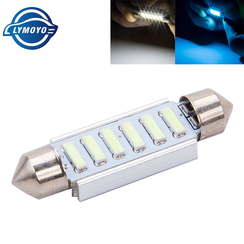 2x SMD LED Festoon 39 mm CANBUS C5W 12V 3 power SMD license plate /& Reading L KC