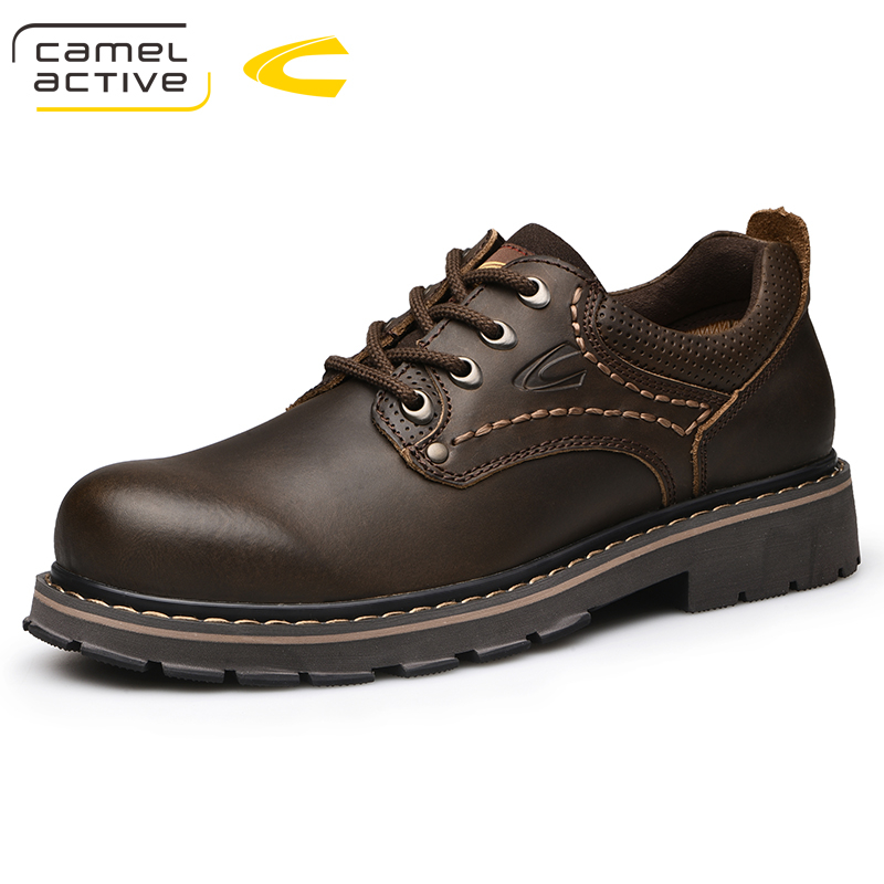 Camel Active New Fashion Style Men Casual Shoes Split Leather Men Oxfords Lace Up Men Working Shoes Comfortable Soft Fast men s leather shoes vintage style casual shoes comfortable lace up flat shoes men footwears size 39 44 pa005m