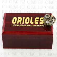 Year 1970 MLB Baltimore Orioles World Series Championship Ring 10-13Size Fans Gift With High Quality Wooden Box