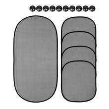 Exterior Accessories Black Window Screen Car-styling Car Curtain Solar Protection 5Pcs/Set Car Interior Product Sunshade