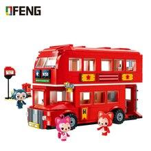 City Decker Bus Building Blocks Sets Compatible  Creator London Red Car Bricks Figure Educational Toys for Children Gifts недорого