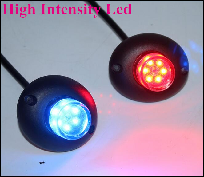 2 Heads 1 controller 12W Led car Hideaway warning lights led strobe Lightheads grill light waterproof