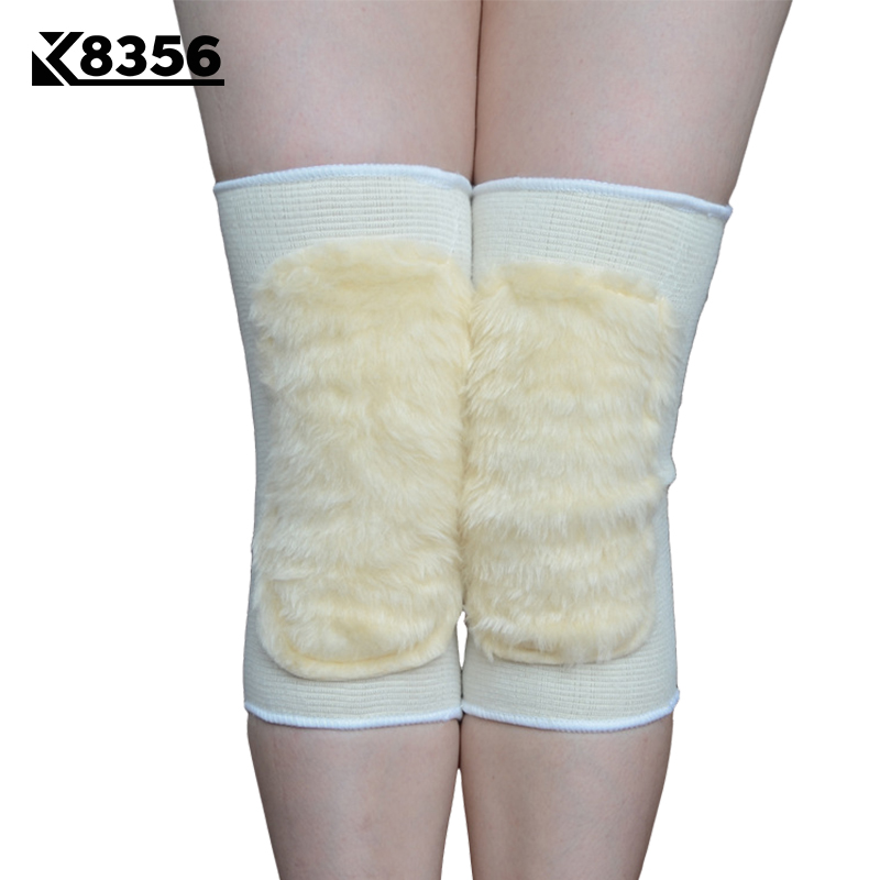 K8356 1 Pair Knitted Knee Pads Warm Arthritis Injury Knee Sleeve Sports Safety Fitness Knee Protection Middle-aged Kneepads