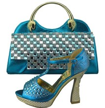 Women Shoe And Bag To Match Set For Party Italian Women's Shoe And Bag Set New Design African Shoe And Bag Set 1308-35