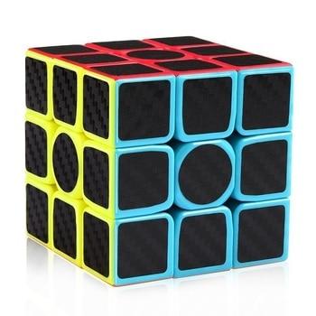 2017 New Carbon Fiber Sticker Speed 3x3x3 Magic Magico Cube Fidget Cube Magico Educational Brain Teaser Toys For Children Adult
