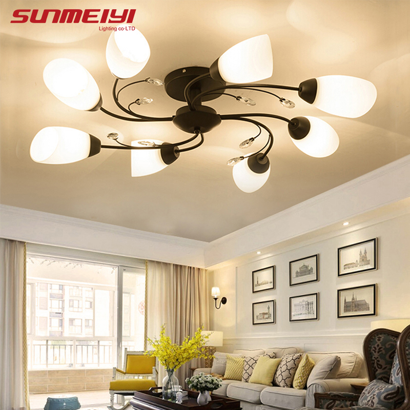 Ceiling Lights & Fans Creative Flowers Led Ceiling Lights Simple Modern Led Lamps For Living Room Bedroom Luminaria De Teto Led Ceiling Light Fixtures The Latest Fashion