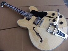 Freies Verschiffen Neue Ankunft 1959 Halb Hohlen E-gitarre ES 335 355 Maple Top Natürliche Holz Beste Qualität 101210