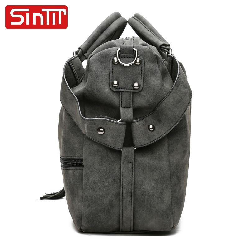 SINTIR Högkvalitativa Nubuck Läder Kvinnor Handväskor Mode Fur - Handväskor - Foto 2