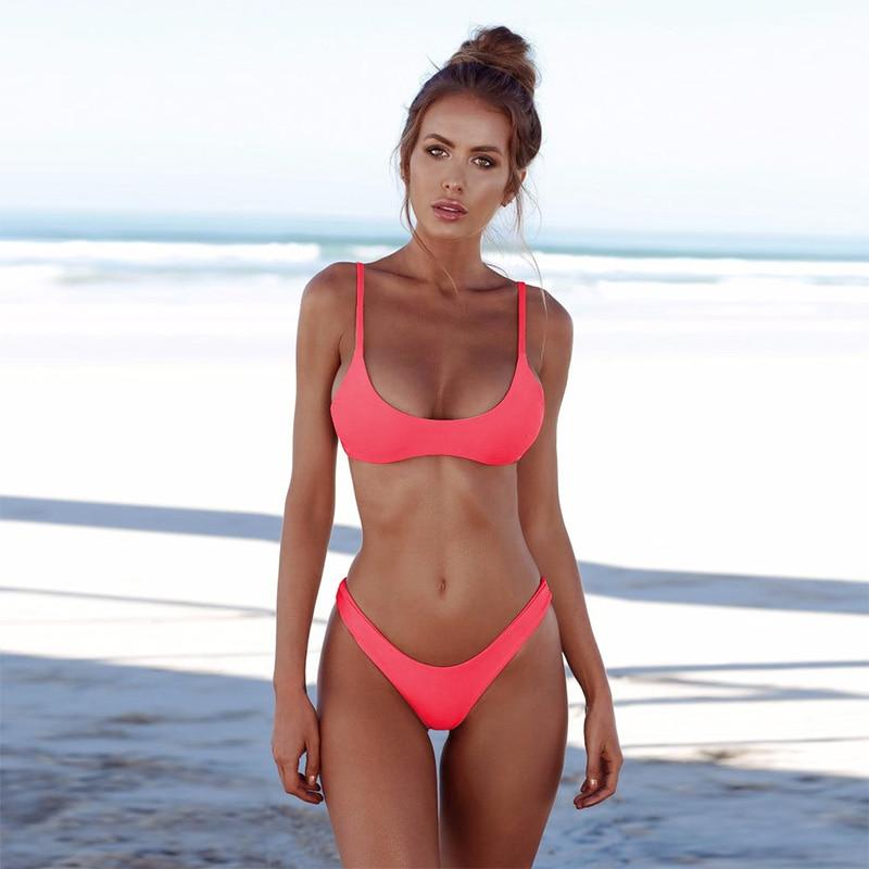 nuovi arrivi e7a29 7ec1b Trangel 2019 sexy del bikini delle donne del costume da bagno brasiliano  bikini costumi da bagno donna push up vestito di nuoto costume da bagno ...