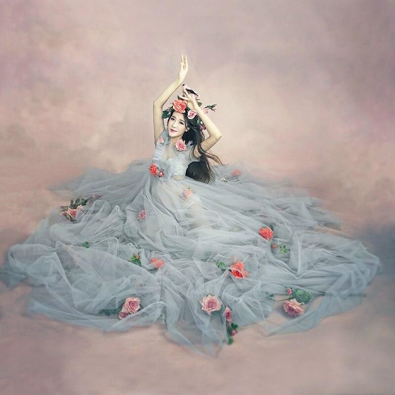 Melario Материнство платья 2018 Мода Материнство фотография Реквизит беременных платье круглый вырез богемный стиль платья для вечеринок