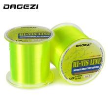 DAGEZI 500M HI-VIS Monofilament Fishing Line 5-30LB test Super Stong Մասնագիտական ձկնորսական գծեր գիշերային ձկնորսության համար