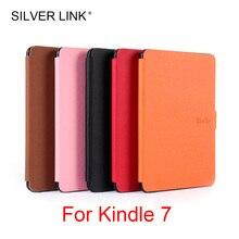 Серебряная Ссылка 1х Kindle 7 PU чехол Обложка из искусственной кожи для Kindle кожа Многоцветный Авто сон/Пробуждение Жесткий протектор оболочки