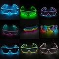 Gafas de luz Led de alambre EL activadas con sonido de dos colores, gafas luminosas coloridas y brillantes para regalos de decoración de fiestas
