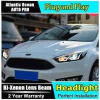Auto styling Für Ford Focus scheinwerfer U engel augen 2015-2018 Für Ford Focus Bi-xenon Doppel objektiv HID KIT LED drl kopf lampe