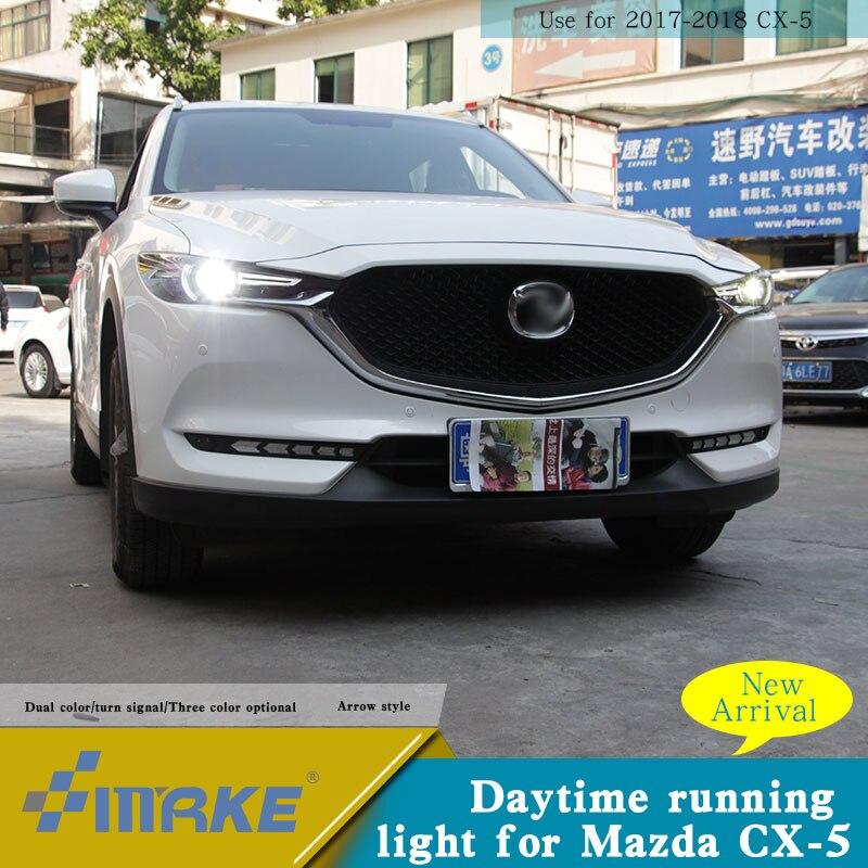 Индивидуальный OEM led drl для Mazda CX 5 2018 led drl с ходовым сигналом дневной свет Cx 5 модификация автомобильного света - 2
