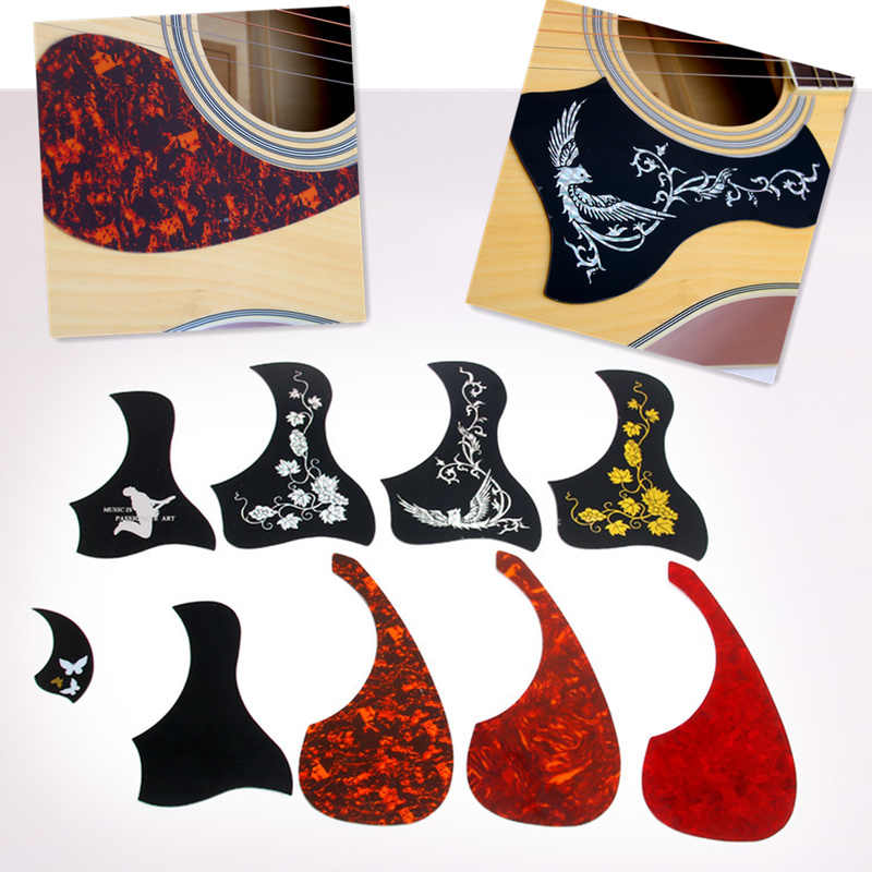 1 Pcs Professional Folk Acoustic Guitar Pickguard Top Quality Self-adhesive Pick Guard Sticker for Acoustic Guitar Accessories