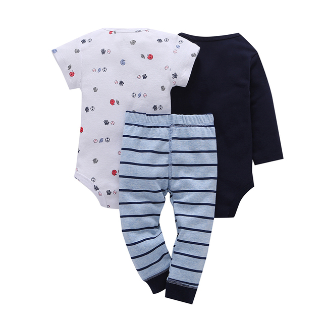 Children brand Body Suits 3PCS Infant Body Cute Cotton Fleece Clothing Baby Boy Girl Bodysuits 2018 New Arrival free shippin 3